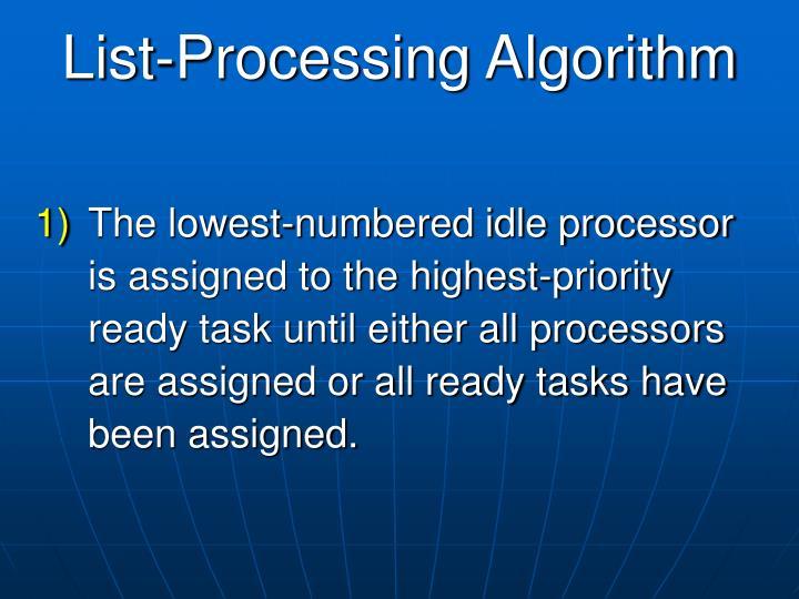 List-Processing Algorithm