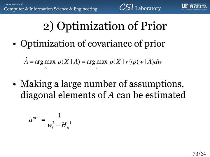 2) Optimization of Prior