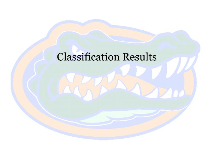 Classification Results