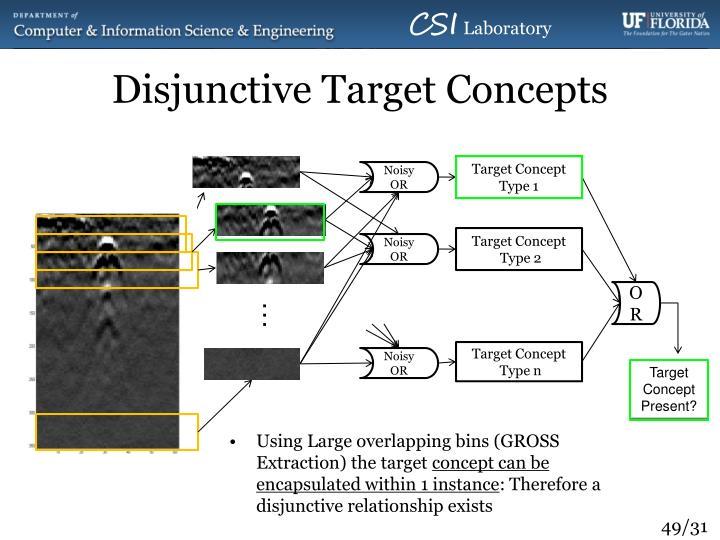 Disjunctive Target Concepts
