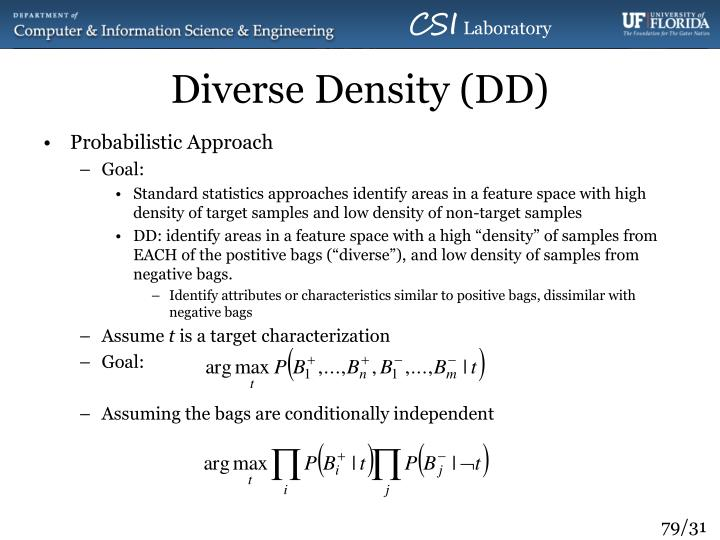 Diverse Density (DD)