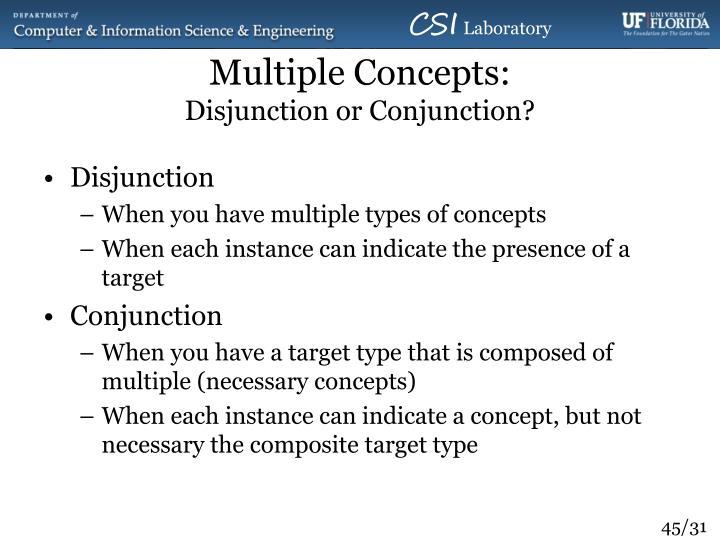 Multiple Concepts: