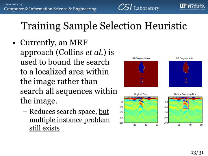 Training Sample Selection Heuristic