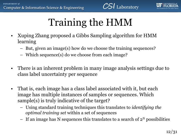 Training the HMM