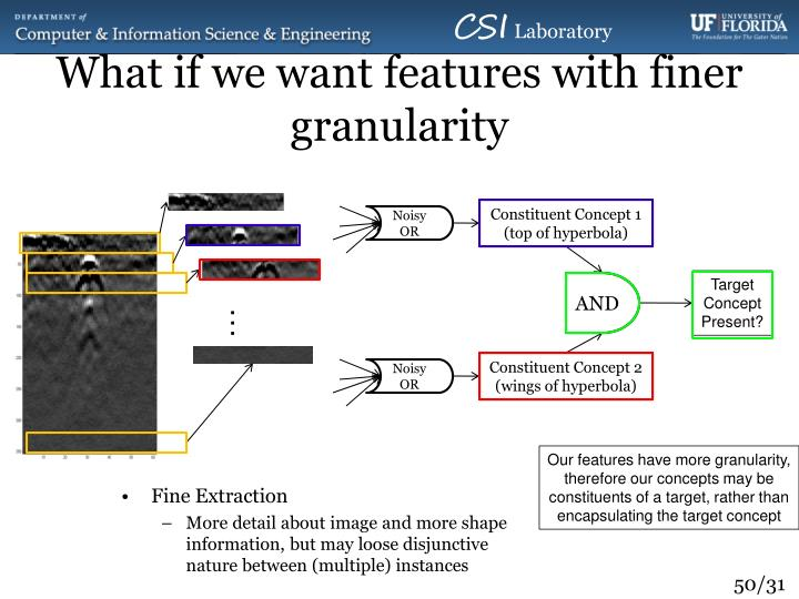 What if we want features with finer granularity