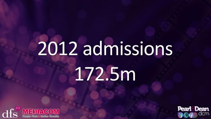 2012 admissions