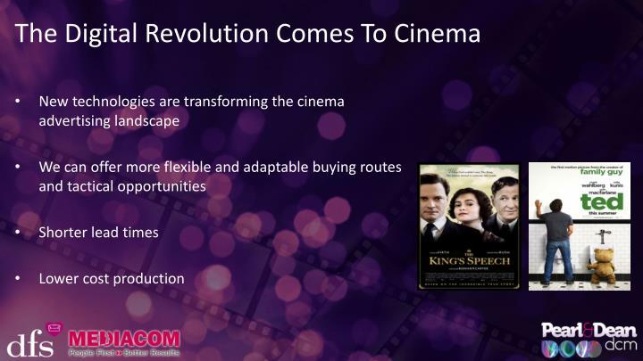 The Digital Revolution Comes To Cinema