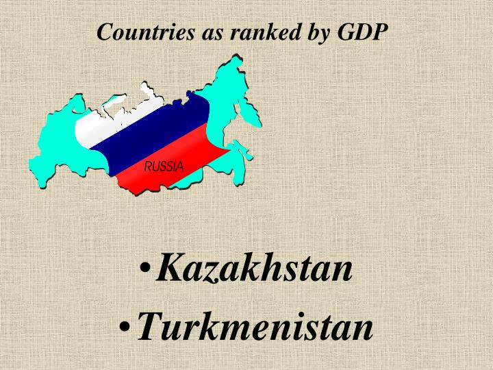 Countries as ranked by GDP