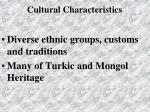 cultural characteristics