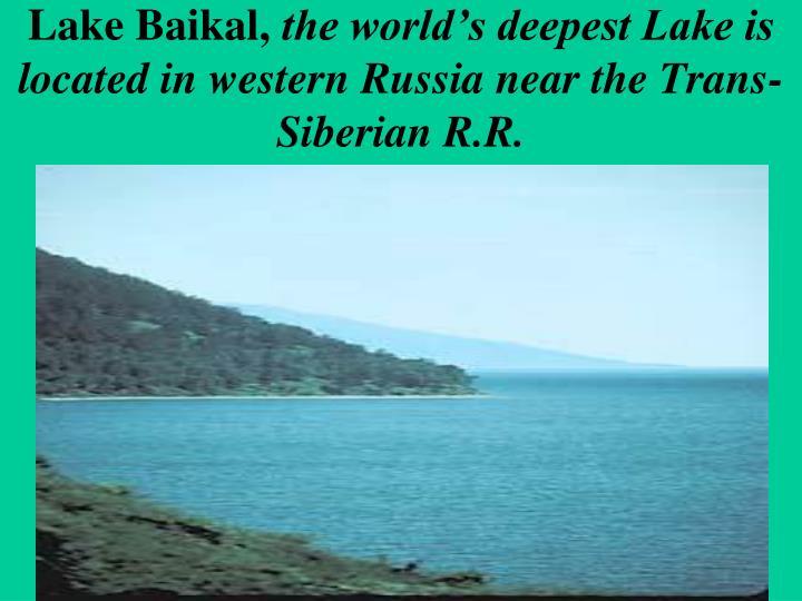 Lake Baikal,