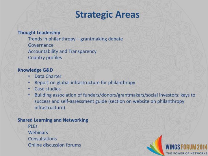 Strategic Areas