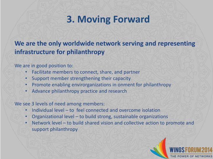 3. Moving Forward