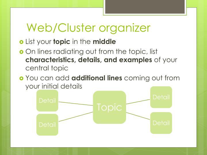 Web/Cluster organizer