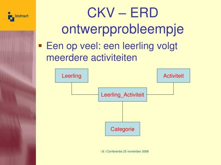 CKV – ERD ontwerpprobleempje