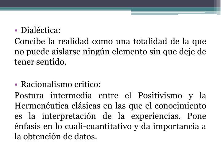 Dialéctica:
