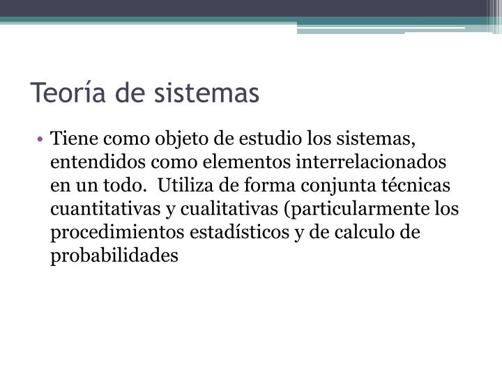 Teoría de sistemas