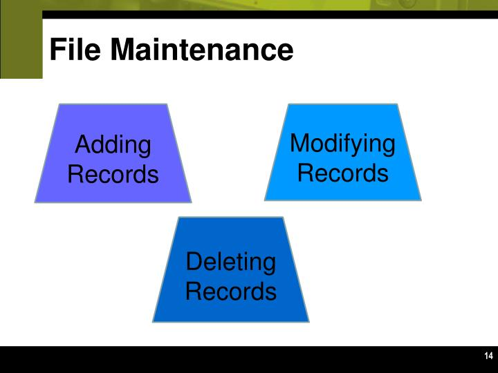File Maintenance