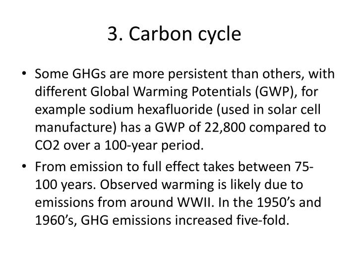 3. Carbon cycle