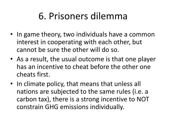 6. Prisoners dilemma
