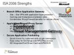 isa 2006 strengths