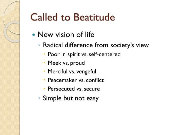 Called to Beatitude