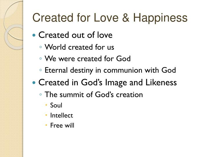 Created for Love & Happiness