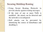 securing multihop routing