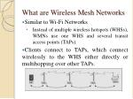 what are wireless mesh networks