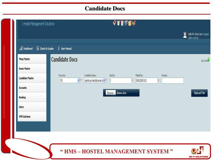 Candidate Docs