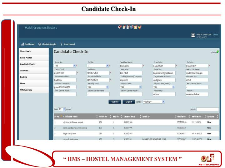 Candidate Check-In