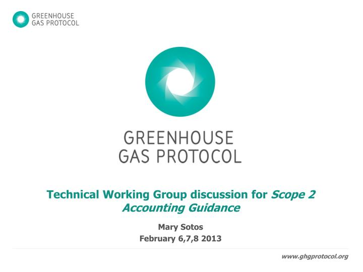 Technical Working Group discussion for
