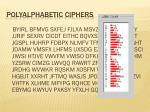 polyalphabetic ciphers1