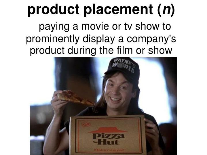 product placement (