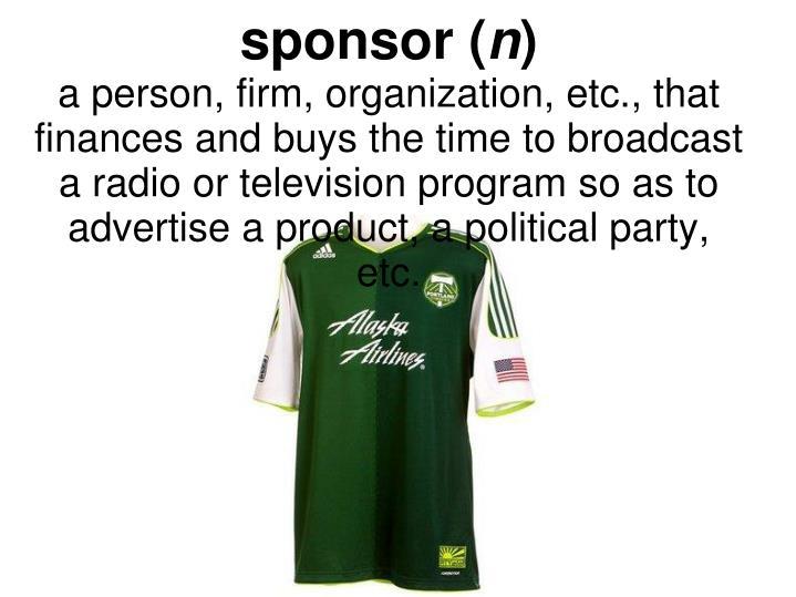 sponsor (