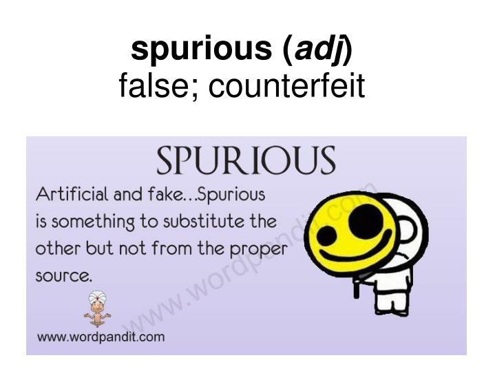 spurious (
