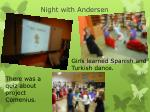 night with andersen