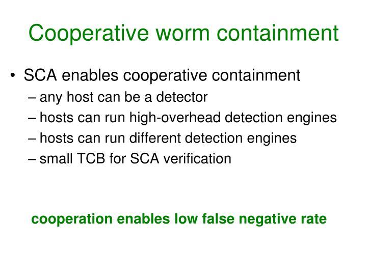 Cooperative worm containment