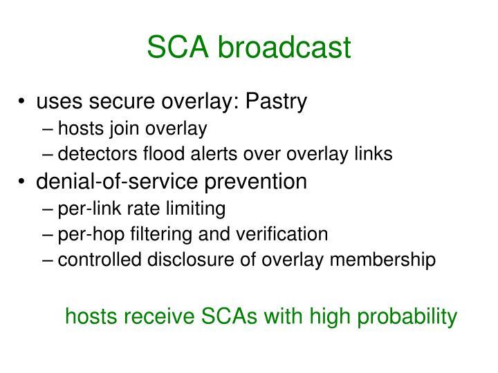 SCA broadcast
