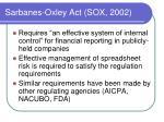 sarbanes oxley act sox 2002