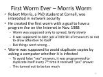 first worm ever morris worm
