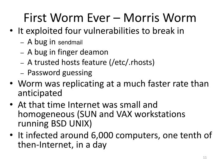 First Worm Ever – Morris Worm