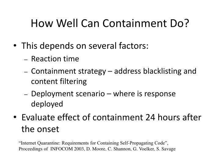 How Well Can Containment Do?