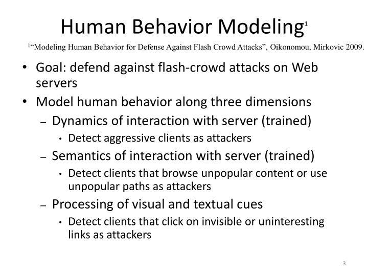 Human Behavior Modeling