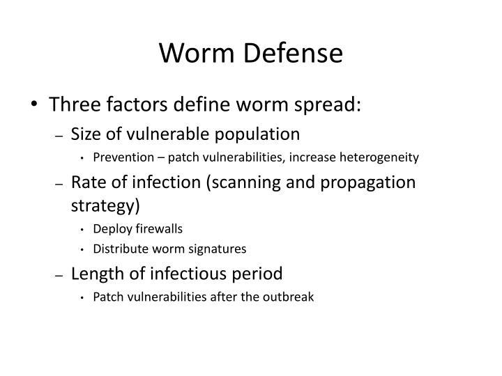 Worm Defense