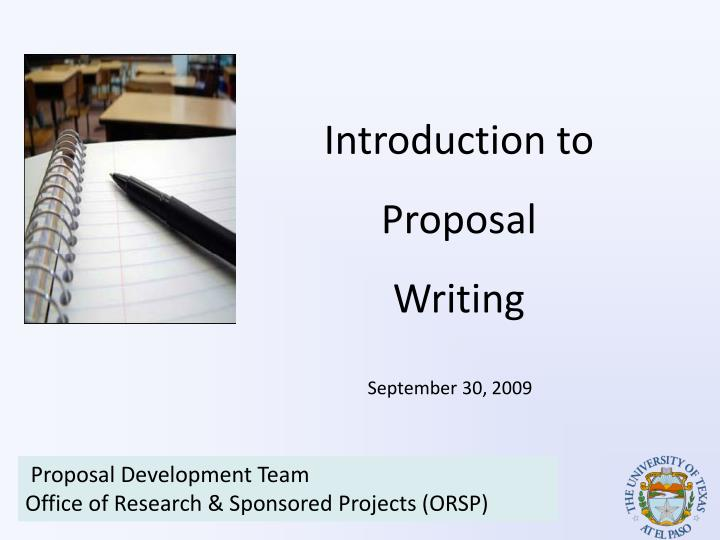 Introduction For Research Proposal