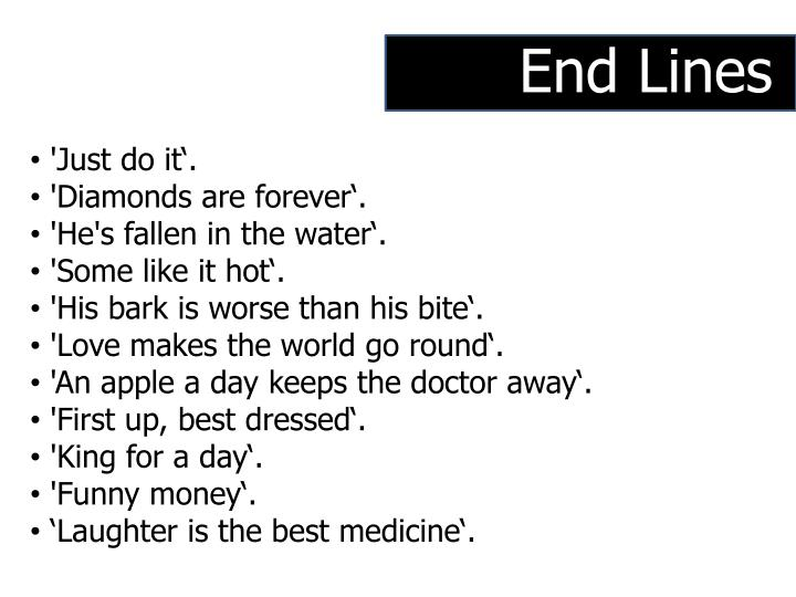 End Lines