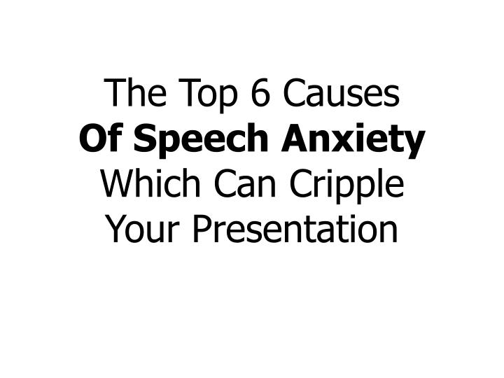 The Top 6 Causes