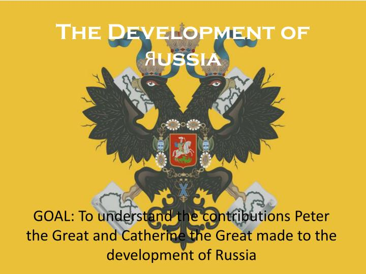The development of ussia