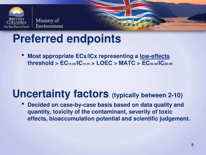 Preferred endpoints
