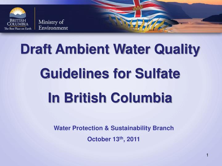 Draft Ambient Water